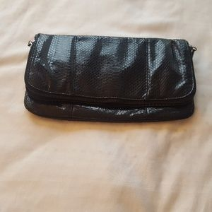 BCBGeneration Black Leather Clutch
